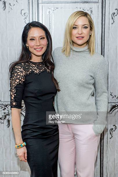 Actors Kate Hudson and Lucy Liu speak about Kung Fu Panda during an AOL Build Speaker Series at AOL Studios In New York on January 26 2016 in New...