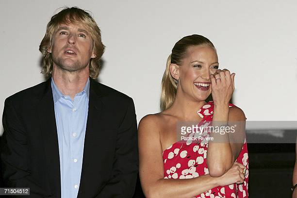 Actors Kate Hudson and Owen Wilson attend the Australian premiere of 'You Me and Dupree' at Greater Union Westfield Parramatta July 23 2006 in Sydney...