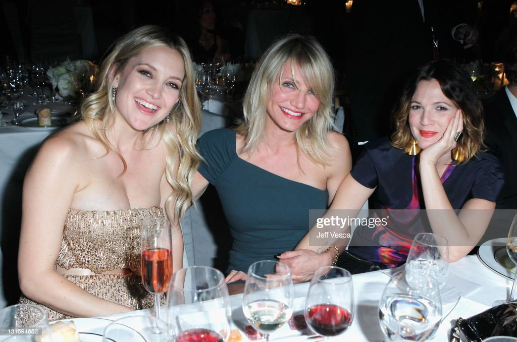 Actors Kate Hudson, Cameron Diaz and Drew Barrymore attend LACMA Art + Film Gala Honoring Clint Eastwood and John Baldessari Presented By Gucci at Los Angeles County Museum of Art on November 5, 2011 in Los Angeles, California.