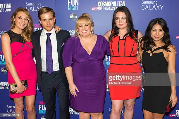 Actors Kate Jenkinson Kevin Bishop Rebel Wilson Lauren Ash and Liza Lapira attend Cosmopolitan's Super Fun Night With Rebel Wilson And Joanna Coles...
