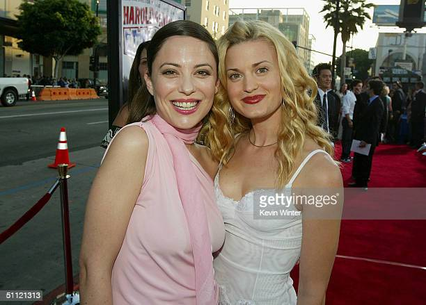 Actors Kate Kelton and Brooke D'Orsay arrive at the World Premiere of Harold Kumar Go to White Castle at the Grauman's Chinese Theatre on July 27...