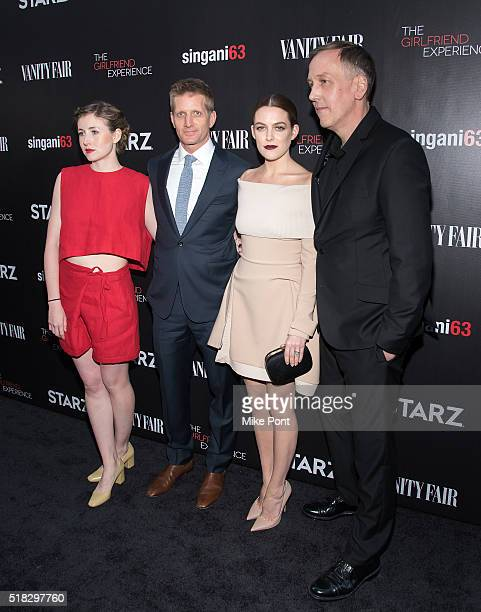 Actors Kate Lyn Sheil Paul Sparks and Riley Keough and Director writer and executive producer Lodge Kerrigan attend 'The Girlfriend Experience' New...