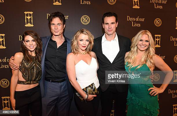 Actors Kate Mansi, Patrick Muldoon, Christie Clark, Austin Peck and Terri Conn attend the Days Of Our Lives' 50th Anniversary Celebration at...