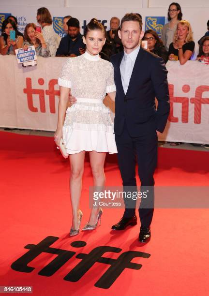 Actors Kate Mara and Jamie Bell attend the premiere of Film Stars Don't Die In Liverpool during the 2017 Toronto International Film Festival at Roy...
