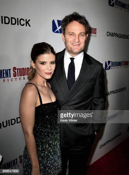 Actors Kate Mara and Jason Clarke arrive at the premiere of Entertainment Studios Motion Picture's Chappaquiddick at the Samuel Goldwyn Theatre on...