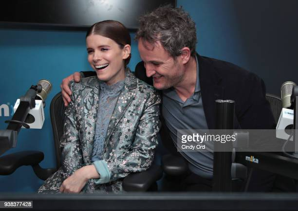 Actors Kate Mara and Jason Clarke visit the SiriusXM Studios on March 26 2018 in New York City