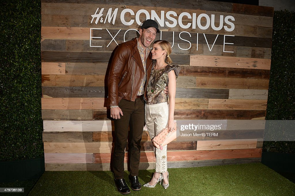 Actors Kate Mara and Johnny Wujek attend the H&M Conscious Collection dinner at Eveleigh on March 19, 2014 in West Hollywood, California.