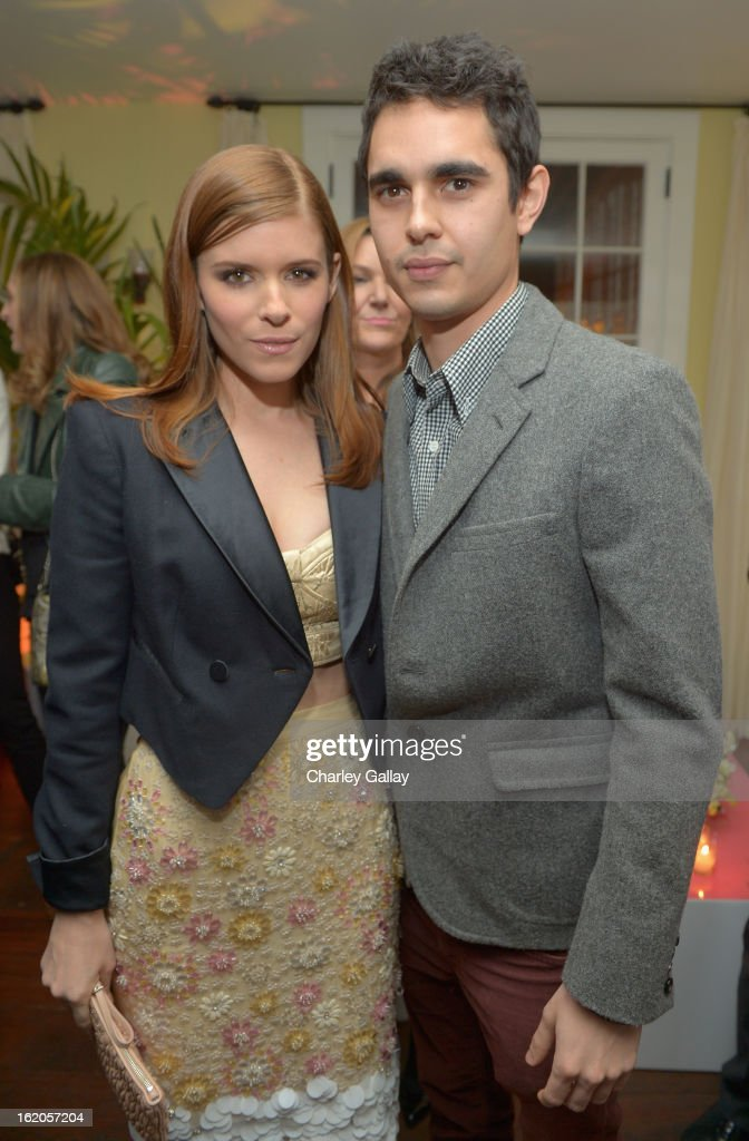 "Actors Kate Mara wearing Juicy Couture and Max Minghella attend Vanity Fair and Juicy Couture's Celebration of the 2013 ""Vanities"" Calendar hosted by Vanity Fair West Coast Editor Krista Smith and actress Olivia Munn in support of the Regional Food Bank of Oklahoma, a member of Feeding America, at the Chateau Marmont on February 18, 2013 in Los Angeles, California."
