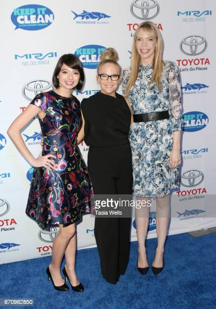 Actors Kate Micucci Rachael Harris and Riki Lindhome attend Keep it Clean Live Comedy Benefit for Waterkeeper Alliance at Avalon Hollywood on April...