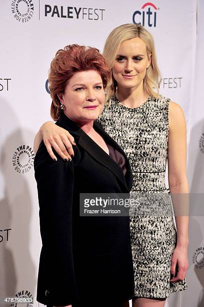 Actors Kate Mulgrew andTaylor Schilling arrive at The Paley Center For Media's PaleyFest 2014 Honoring 'Orange Is The New Black' at Dolby Theatre on...