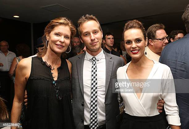 Actors Kate Vernon Ryan Carlberg and Erin Cahill attend the 108 Stitches Screening Party Screening Party held at Harmony Gold Theatre on September 10...