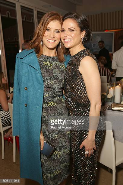 Actors Kate Walsh and Lana Parrilla attend ELLE's 6th Annual Women in Television Dinner Presented by Hearts on Fire Diamonds and Olay at Sunset Tower...