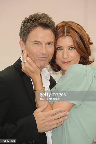 Actors Kate Walsh and Tim Daly attend a photocall for the American TV series 'Private Practice' during the 2009 Monte Carlo Television Festival held...