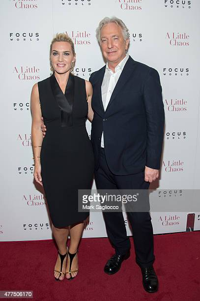 b93a3199e53 Actors Kate Winslet and Alan Rickman attend A Little Chaos New York Premiere  at the Museum.