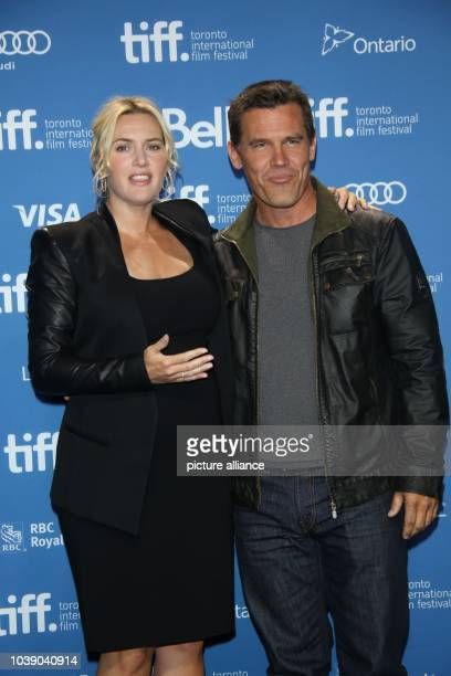 Actors Kate Winslet and Josh Brolin attend the photo call before the press conference of 'Labor Day' during the 38th annual Toronto International...