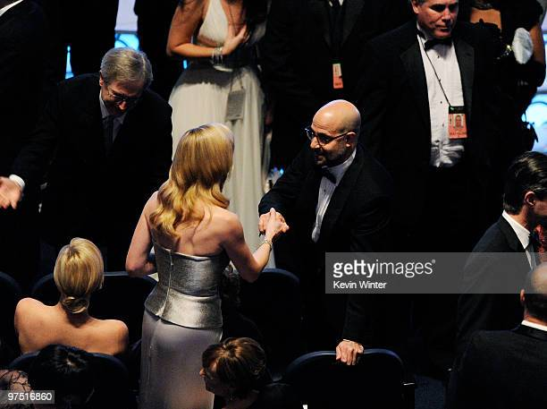 Actors Kate Winslet and Stanley Tucci onstage during the 82nd Annual Academy Awards held at Kodak Theatre on March 7 2010 in Hollywood California