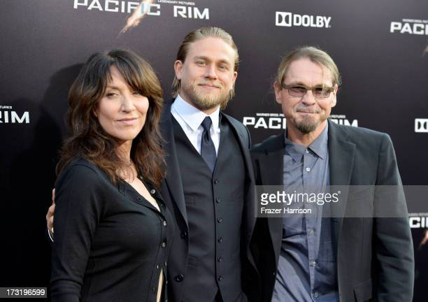 Actors Katey Sagal and Charlie Hunnam and writer/producer Kurt Sutter arrive at the premiere of Warner Bros Pictures' and Legendary Pictures' Pacific...
