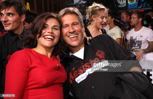 Actors Katharina Wackernagel and Michael Kind attend the First Steps Awards 2009 at the Theater am Potsdamer Platz on August 25 2009 in Berlin Germany