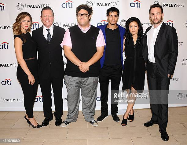Actors Katharine McPhee Robert Patrick Ari Stidham Elyes Gabel Jadyn Wong and Eddie Kaye Thomas attend the CBS preview panel at the 2014 PaleyFest...