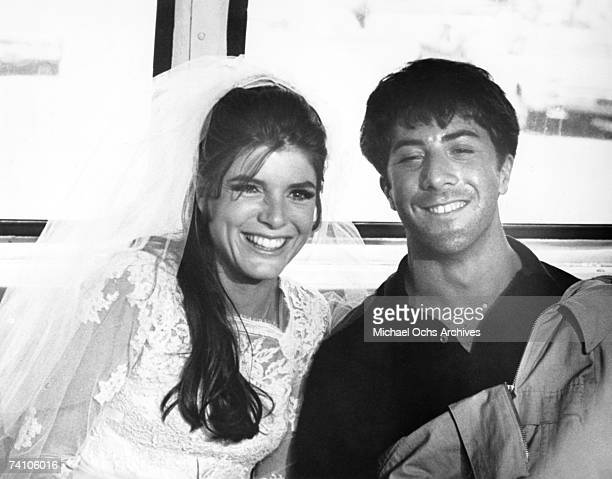 Actors Katharine Ross and Dustin Hoffman in a scene from 'The Graduate' directed by Mike Nichols Mike Nichols won Academy Award for Best Film...