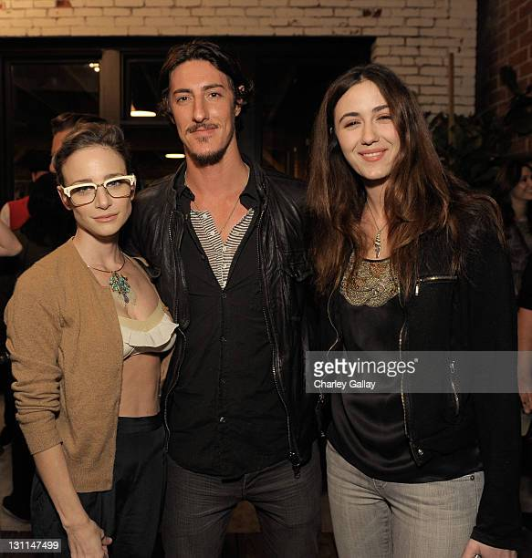 Actors Katharine Towne Eric Balfour and Madeline Zima attend Warby Parker LA Launch at Confederacy on November 1 2011 in Los Angeles California