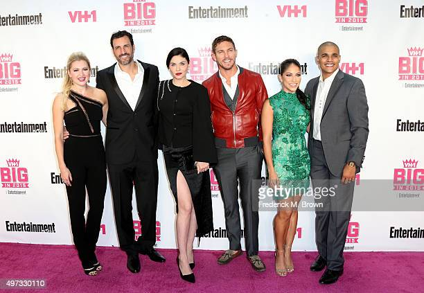 Actors Katherine Bailess James LaRosa Jodi Lyn O'Keefe Adam Senn Valery Ortiz and Jonathan McDaniel attend VH1 Big in 2015 With Entertainment Weekly...
