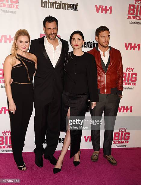 Actors Katherine Bailess James LaRosa Jody Lyn O'Keefe and Adam Senn attend VH1 Big In 2015 With Entertainment Weekly Awards at Pacific Design Center...