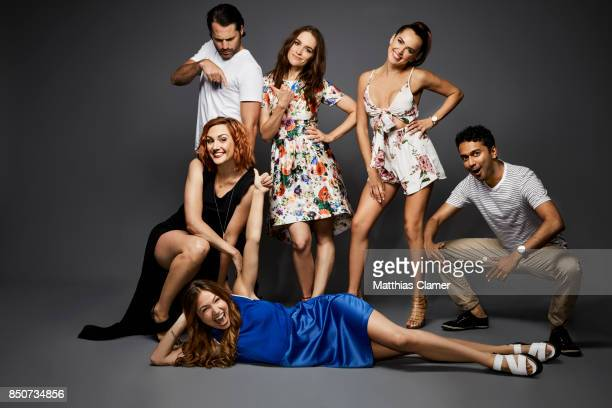 Actors Katherine Barrell Tim Rozon Melanie Scrofano Dominique ProvostChalkley Tamara Duarte and Varun Saranga from Wynonna Earp are photographed for...