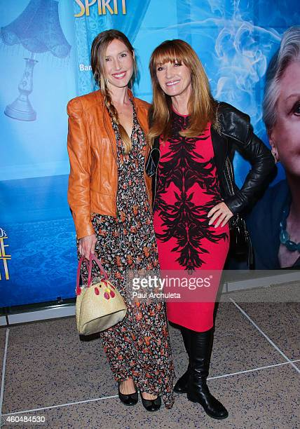 Actors Katherine Flynn and Jane Seymour attend the Blithe Spirit opening night performance at The Ahmanson Theatre on December 14 2014 in Los Angeles...