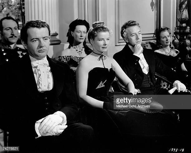 Actors Katherine Hepburn and Paul Henreid in the film 'Song of Love' Photo by Michael Ochs Archives/Getty Images
