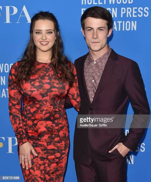 Actors Katherine Langford and Dylan Minnette arrive at the Hollywood Foreign Press Association's Grants Banquet at the Beverly Wilshire Four Seasons...