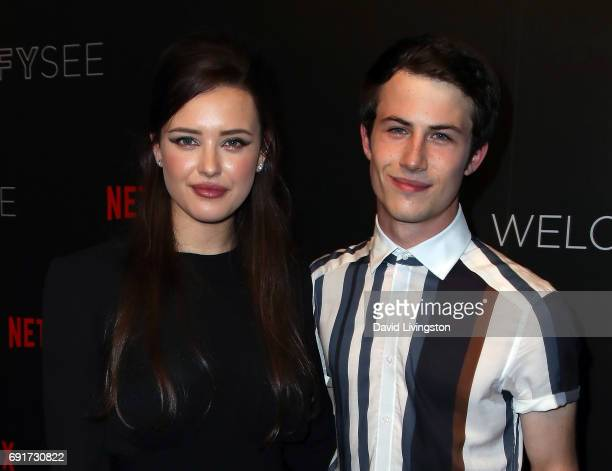 Actors Katherine Langford and Dylan Minnette attend Netflix's '13 Reasons Why' FYC event at Netflix FYSee Space on June 2 2017 in Beverly Hills...