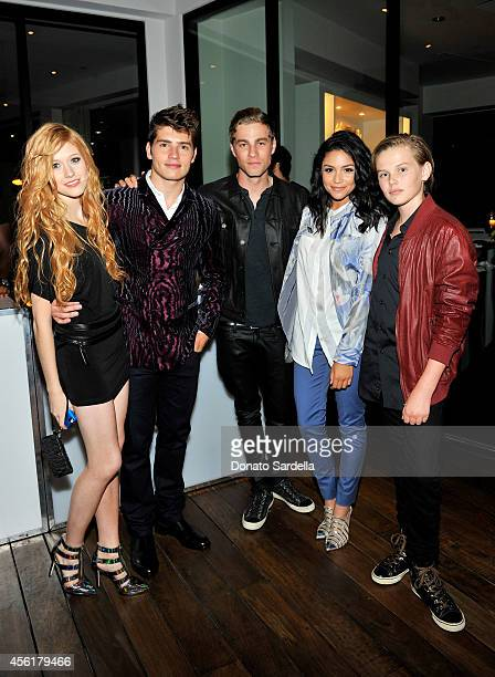 Actors Katherine McNamara Gregg Sulkin Cameron Fuller Bianca Santos and Garrett Wareing attend the 12th Annual Teen Vogue Young Hollywood Party with...