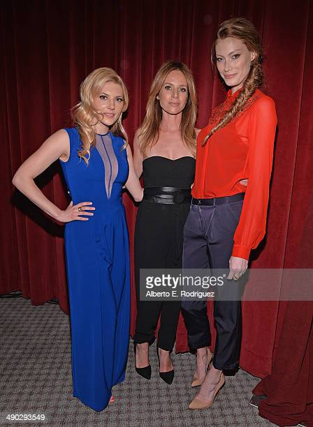 Actors Katheryn Winnick Jessalyn Gilsig and Alyssa Sutherland attend History Channel's Vikings Panel Discussion and Reception at Leonard H Goldenson...