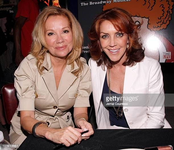 Actors Kathie Lee Gifford and Andrea McArdle attend the Annie The 30th Anniversary Cast Recording CD signing on June 4 2008 at Virgin Megastore Times...