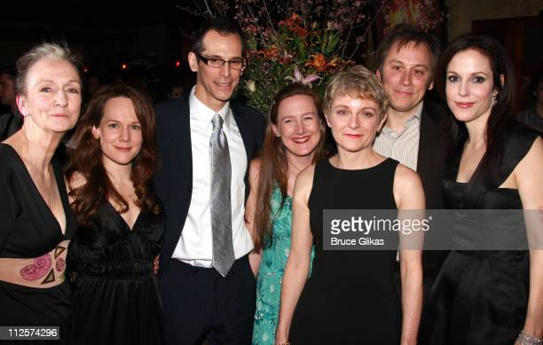 Actors Kathleen Chalfant Carla Harting T Ryder Smith Playwright Sarah Ruhl Actors Kelly Maurer David Aaron Baker and Mary Louise Parker pose at the...
