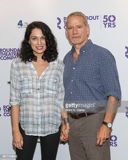 Actors Kathleen McElfresh and Campbell Scott arrive for Roundabout's 50th anniversary season party held at the Roundabout Theatre Company on...