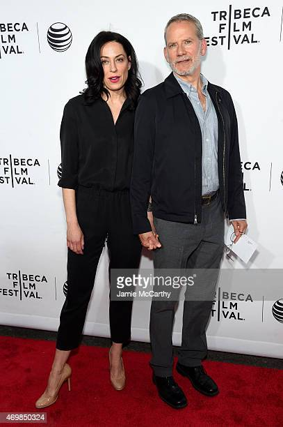 Actors Kathleen McElfresh and Campbell Scott attend the Opening Night premiere of Live From New York during the 2015 Tribeca Film Festival at the...