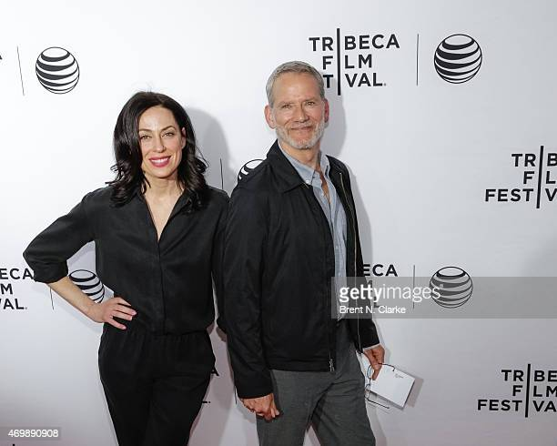 Actors Kathleen McElfresh and Campbell Scott attend the world premiere of Live From New York held at The Beacon Theatre on April 15 2015 in New York...