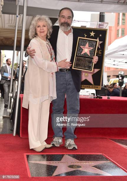 Actors Kathryn Grody and Mandy Patinkin attend a ceremony honoring Mandy Patinkin with the 2629th star on the Hollywood Walk of Fame on February 12...
