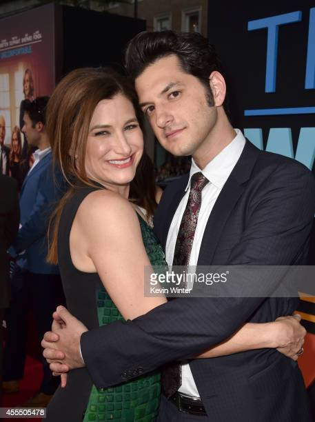 Actors Kathryn Hahn and Ben Schwartz arrive at the premiere of Warner Bros Pictures' 'This Is Where I Leave You' at TCL Chinese Theatre on September...