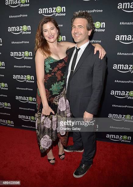 Actors Kathryn Hahn and Ethan Sandler attend Amazon Prime's Emmy Celebration at The Standard Hotel on September 20 2015 in Los Angeles California