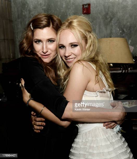 Actors Kathryn Hahn and Juno Temple pose at the after party for the premiere of The Film Arcade and Cinedigm's 'Afternoon Delight' at Hemmingway's on...