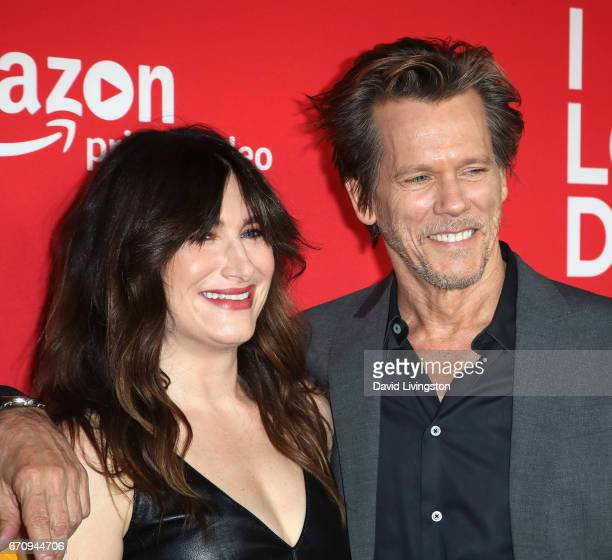 Actors Kathryn Hahn and Kevin Bacon attend the premiere of Amazon's 'I Love Dick' at the Linwood Dunn Theater on April 20 2017 in Los Angeles...