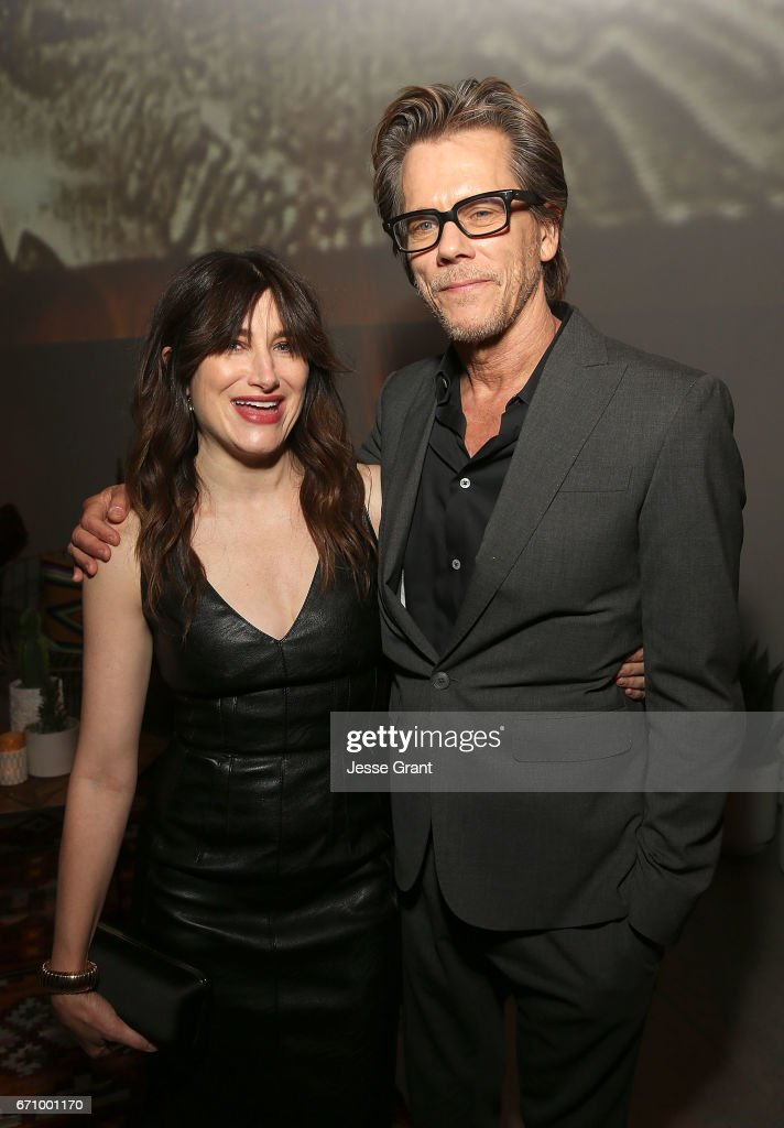 Actors Kathryn Hahn and Kevin Bacon attend the premiere of Amazon's 'I Love Dick' after party on April 20, 2017 in Los Angeles, California.