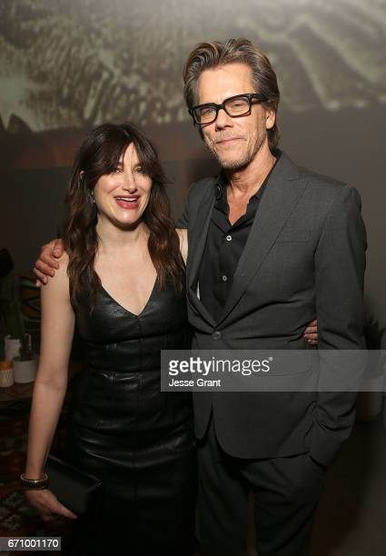 Actors Kathryn Hahn and Kevin Bacon attend the premiere of Amazon's 'I Love Dick' after party on April 20 2017 in Los Angeles California