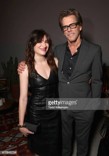 Actors Kathryn Hahn and Kevin Bacon attend the red carpet premiere of Amazon's forthcoming series 'I Love Dick' at The Linwood Dunn Theater with a...
