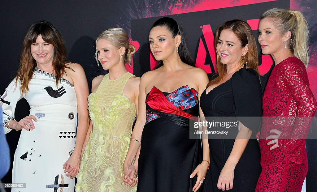 Actors Kathryn Hahn, Kristen Bell, Mila Kunis, Annie Mumolo and Christina Applegate attend the Premiere ff STX Entertainment's 'Bad Moms' at Mann Village Theatre on July 26, 2016 in Westwood, California.