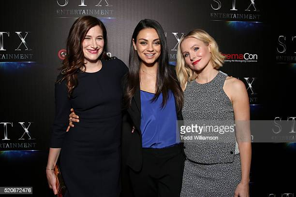 Actors Kathryn Hahn Mila Kunis and Kristen Bell attend CinemaCon 2016 The State of the Industry Past Present and Future and STX Entertainment...