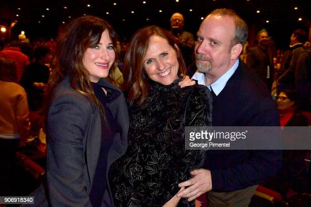 Actors Kathryn Hahn Molly Shannon and Paul Giamatti attend the 'Private Life' Premiere during the 2018 Sundance Film Festival at Eccles Center...